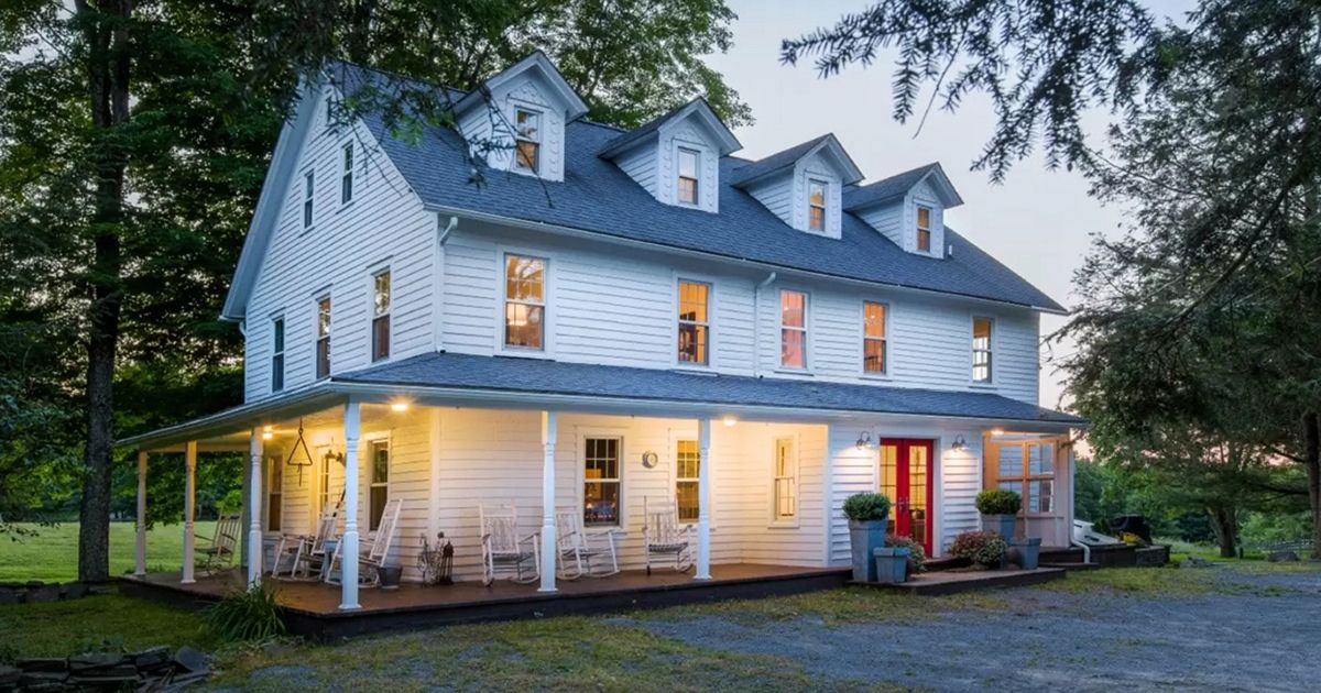 Three Story Farmhouse And Accompanying Barn Ooze With Charm