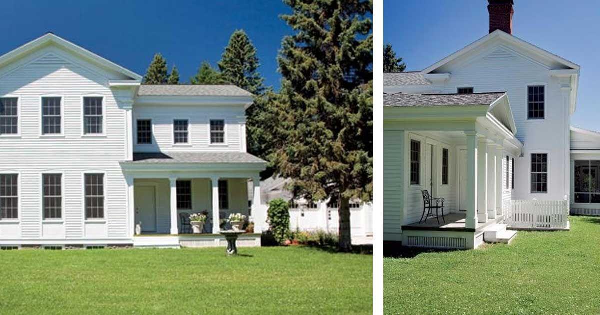 Greek Revival Farmhouse has old fashioned charm