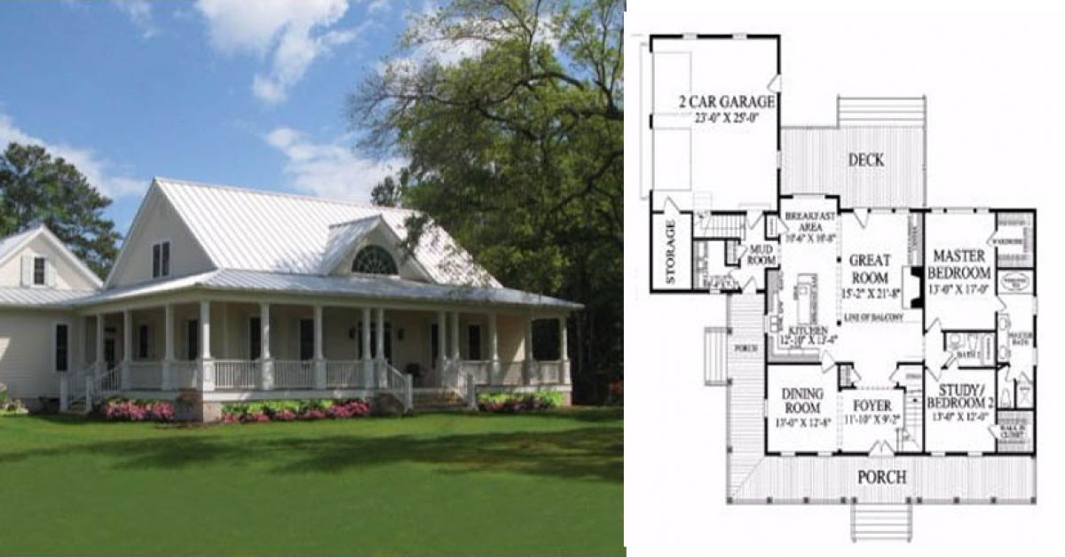 35 Classic Farmhouse Plans Farmhouse Style House Plan 5